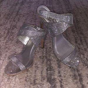 Silver, sparkly & strappy!